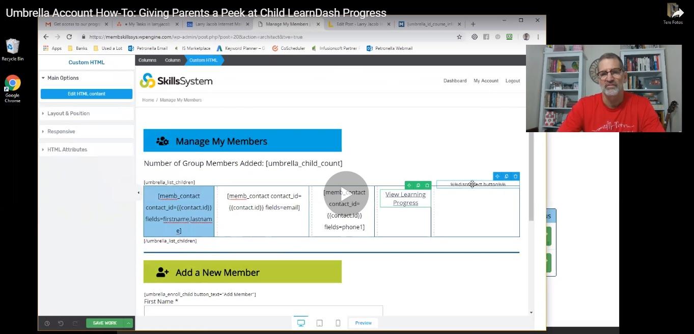 Memberium Umbrella Account | Larry Jacob Internet Marketing